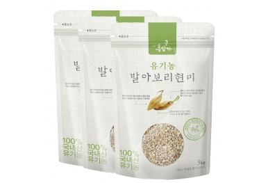 유기농 발아 보리현미(1kgX3팩 선물세트)
